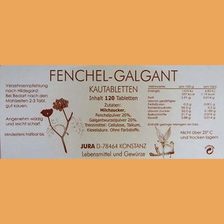 Fenchel-Galgant-Tabletten